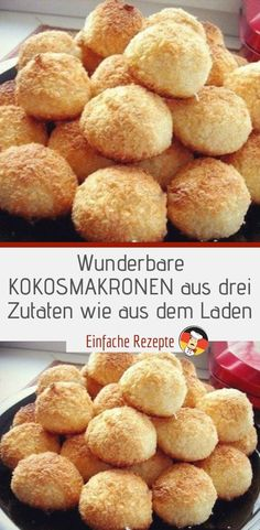 Wonderful coconut macaroons made from three ingredients from the shop - Olivia Gesunde Rezepte ❤️ - Homemade Frappuccino, Frappuccino Recipe, Berry Smoothie Recipe, Easy Smoothie Recipes, Cupcake Recipes, Cookie Recipes, Snack Recipes, Coconut Milk Smoothie, Grilled Fruit