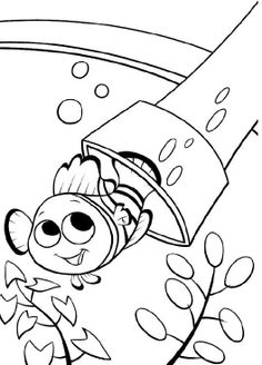 Printables Finding Nemo Smiling Coloring Pages