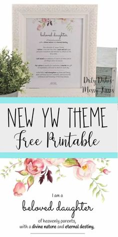 Young Women Theme- Download this free 2019 LDS Young Women theme printable that is also available in poster size. #ldsyoungwomen #youngwomentheme #churchofjesuschrist #churchofjesuschristoflatterdaysaints #sharethegood #freeprintable