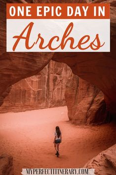 Dreaming about traveling to Arches National Park!? In this guide, I go over the best hikes in Arches National Park, Arches National Park photography inspo, park fees, best viewpoints, must-pack items, and of course a one day Arches National Park Itinerary! #archesnationalpark #usatravel #usanationalparks National Parks Map, National Park Posters, North America Destinations, Travel Destinations, Travel Usa, Travel Tips, Road Trip Usa, United States Travel, Cool Places To Visit