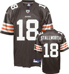 3e3bd0c3c84 Reebok Cleveland Browns Donte Stallworth 18 Brown Replica Jersey Sale Donte  Stallworth
