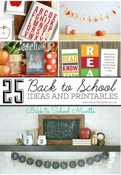 Get the kids excited to head back to school with these fun and creative 25 Back to School Ideas & Printables. There is something for everyone.