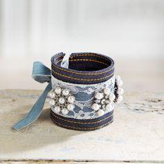 DIY Denim Cuff Bracelet