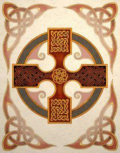 Celtic Cross Art Print by TigerHouseArt on Etsy