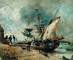 Shipping in the Orwell, near Ipswich c.1806 - c.1809. John Constable