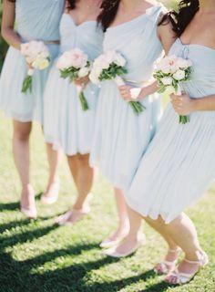 sky blue bridesmaids dresses | jenhuangphoto.com