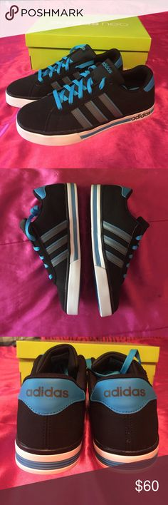 ✨NIB✨Adidas Neo Daily Team 9 Brand new, in box never worn kicks! Bought for my son, but he outgrew them by time he got around to wearing them! 😐 Cool colors & very comfortable. Zero flaws- once again, these are BRAND NEW Adidas 👌 Size 9 in men's, could fit a women's size 10 1/2- 11 too 😊 Adidas Shoes Sneakers