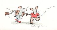 Gallery.ru / Фото #148 - Anita Jeram - Karakora Anita Jeram, Cute Mouse, Cool Art Drawings, Book Projects, Children's Book Illustration, Whimsical Art, Texture Art, Cute Cartoon, Cute Animals