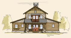 Summit | Timber Frame Home Designs | Rustic House Plans Digging the master layout being a rectangle.