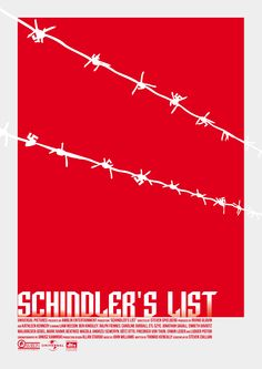Schindler's List, Movie Poster Reimagined by Bill Cameron Twitter: bill_e_cameron