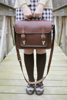 3030f60fe185 The ONA Brooklyn bag in chestnut styled by Kaylah of The Dainty Squid Brown  Leather Satchel