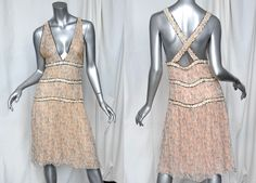 Great gatsby inspired dress patterns | ... CHIFFON*Gabrielle Coco-Print SEQUIN TRIM Party Frock Dress RUNWAY S