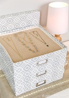 Transform scrapbook paper boxes into handy organizers with these nothing-to-it DIYs.
