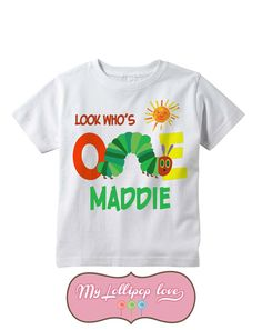 Hungry Caterpillar Birthday Shirt Personalized T Shirts Custom Tees