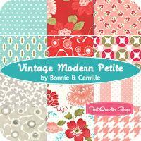 Color inspiration for bedroom makeover ~ Vintage Modern Petite Fat Quarter Bundle Bonnie & Camille for Moda Fabrics