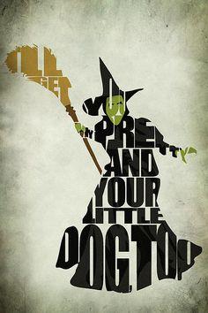 Wicked Witch Of The West Print by Ayse Deniz