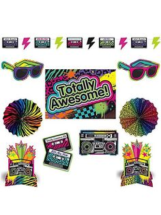 Totally 80's Room Decorating Kit | 10pc
