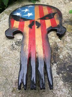American Flag Punisher Skull