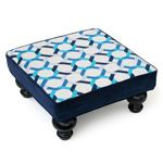 Patterned foot stool.  Jonathan Adler.
