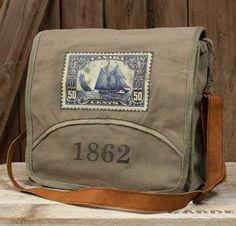 1862 Messenger Canvas Bag Handbag Purse