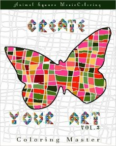 Amazon Create Your Art Vol 3 Animal Square Mosaic Coloring Book
