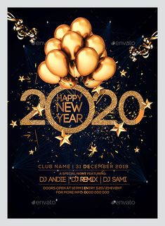 2020 New Year Party Flyer Template is the best promotion of your New Year celebration or party. Flyer template is also available in 2 sizes. Happy New Year Banner, Happy New Year Greetings, Happy Wishes, New Year Wishes, Happy New Year 2020, Happy New Year Pictures, Happy Birthday Pictures, Merry Christmas Gif, Christmas And New Year