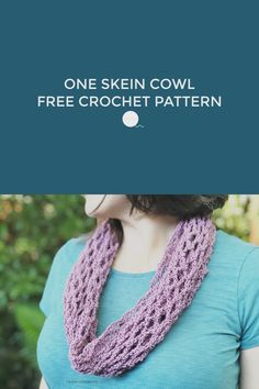 Archwork Cotton Crochet Cowl is a free crochet pattern that uses just one ball of cotton or acrylic yarn. One Skein Crochet, Crochet Cowl Free Pattern, Cotton Crochet, Crochet Scarves, Knit Patterns, Easy Crochet, Free Crochet, Inspirational Gifts, Sewing Tutorials