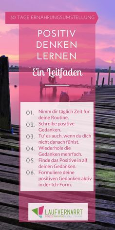 Den Tag positiv abschließen – Tag 23 der 30 Tage Ernährungsumstellung What effects positive thinking has on your entire life. Learn how to learn to think positively in this guide. Daily Health Tips, Health Day, Mental Health, Positive Mindset, Positive Life, 30 Tag, 30 Day Diet, Tips To Be Happy, Mental Training