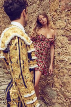 Magdalena Frackowiak wears For Love & Lemons Amelia strapless minidress