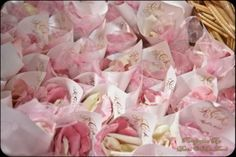 Rose petal cones for the indoor petal toss - Wedding Spotlight: Andrea + Ross | Magical Day Weddings | A Wedding Atlas Fan Site for Disney Weddings
