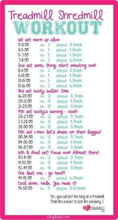 A serious treadmill workout