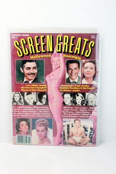 1980 Vintage Magazine Back Issue Screen Greats Hollywood Nostalgia Collectors Vol 1- Collectors Edition Lauren Bacall Marilyn by VintageLostButFound on Etsy