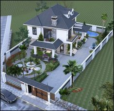 Modern Exterior House Designs, Classic House Exterior, Modern House Facades, Unique House Design, Dream House Exterior, Exterior Design, Exterior Colors, House Plans Mansion, My House Plans