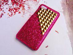 Blackberry Z10 case,Glitter Geometric case,deluxe,Blackberry Studded case,Studs Plastic Phone case,Blackberry Z10 case Cover