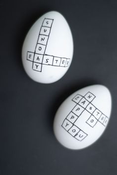 DIY Crossword Easter Eggs ♥