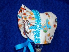 Handmade Baby Bonnet Butterflies with Ruffled by AdorableandCute, $24.00