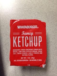 whataburger fancy ketchup - Google Search