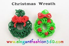 Rainbow Loom - Christmas Charms, ornaments, bracelet , tutorials and photos