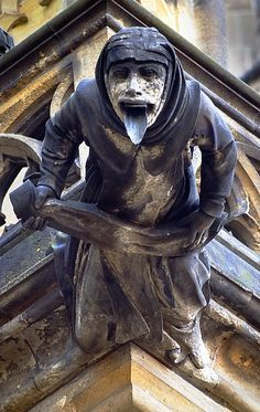 Tongued Gargoyle St. Vitus Cathedral, Prague.