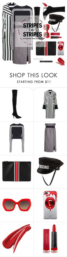 """""""lose control - missy elliott"""" by gabrielleleroy ❤ liked on Polyvore featuring Yeezy by Kanye West, Victoria Beckham, Y-3, Givenchy, Moschino, Alice + Olivia, Fifth & Ninth, Max Factor, Christian Dior and stripesonstripes"""