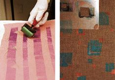 This easy-to-find graphic-arts tool makes textural design on fabric as simple as using a paint roller.