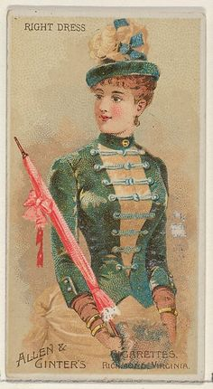 Right Dress, from the Parasol Drills series (N18) for Allen & Ginter Cigarettes Brands