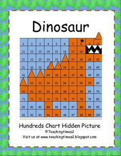 Dinosaur Hundreds Chart Hidden Pictures from Teachingtimes2 on TeachersNotebook.com - (4 pages) - This is a cute and fun way to incorporate math into your Science lesson on dinosaurs or practicing with numbers to 100. The kiddos will just love doing this to see the hidden dinosaur revealed. Great to use in a math,science center or whole group lesson.