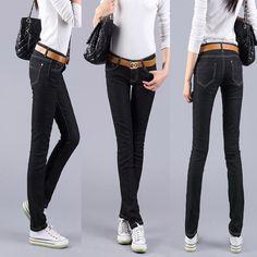 [DK Jeans] 2015 New Fashion Pure Black Skinny Joker Women's Jeans Feet Pencil Pants Slim Trousers Free Shipping #0040 - http://www.freshinstyle.com/products/dk-jeans-2015-new-fashion-pure-black-skinny-joker-womens-jeans-feet-pencil-pants-slim-trousers-free-shipping-0040/