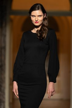 #orovicafashion #lbd #back #zipper Every Woman, Lbd, Timeless Fashion, Fashion Show, High Neck Dress, Zipper, Womens Fashion, Black, Dresses
