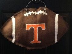 Tennessee Vols Burlap football Wreath Hanging