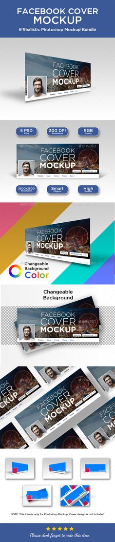 #Facebook #Cover #Mockup - Miscellaneous Displays Download here: https://graphicriver.net/item/facebook-cover-mockup/19619345?ref=alena994