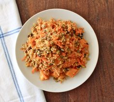 Carrot, Lentil & Raisin Salad with Quinoa, Pine Nuts & Roasted Butternut Squash