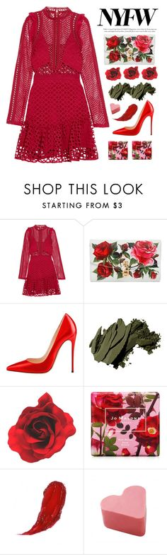 """NYFW"" by miee0105 ❤ liked on Polyvore featuring self-portrait, Dolce&Gabbana, Bobbi Brown Cosmetics and Jo Malone"
