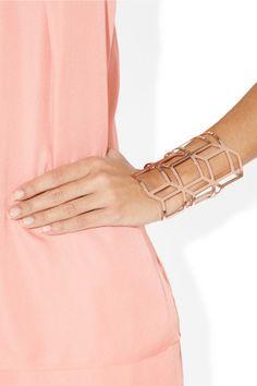 Rose gold-plated cuff.